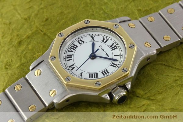 Used luxury watch Cartier Santos steel / gold automatic  | 141699 01