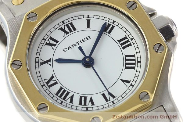 Used luxury watch Cartier Santos steel / gold automatic  | 141699 02