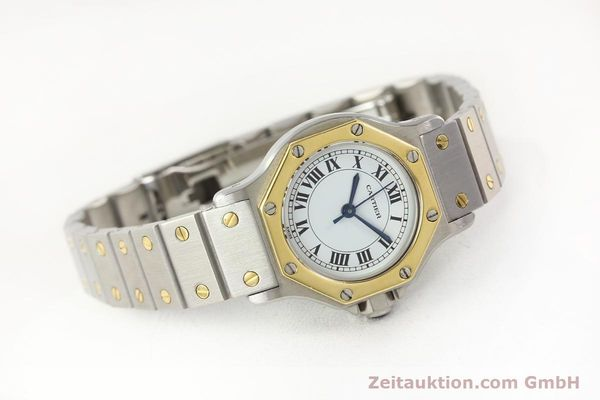 Used luxury watch Cartier Santos steel / gold automatic  | 141699 03