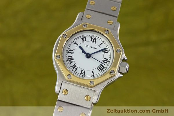 Used luxury watch Cartier Santos steel / gold automatic  | 141699 04