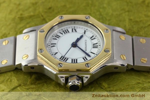 Used luxury watch Cartier Santos steel / gold automatic  | 141699 05