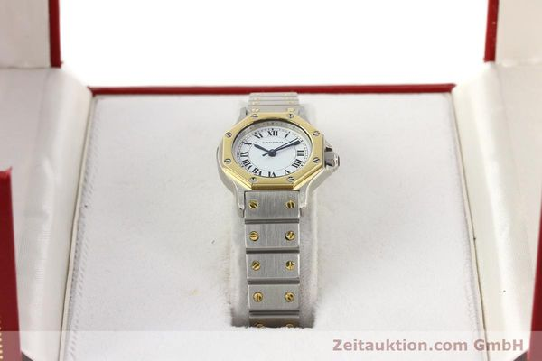Used luxury watch Cartier Santos steel / gold automatic  | 141699 07