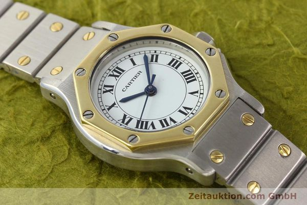 Used luxury watch Cartier Santos steel / gold automatic  | 141699 13