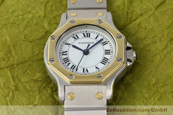 Used luxury watch Cartier Santos steel / gold automatic  | 141699 14