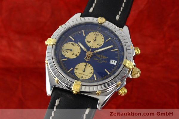 Used luxury watch Breitling Chronomat chronograph steel / gold automatic Kal. B13 Ref. B13048  | 141713 04