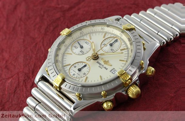Used luxury watch Breitling Chronomat chronograph steel / gold automatic Kal. B13 ETA 7750 Ref. B13050  | 141714 01