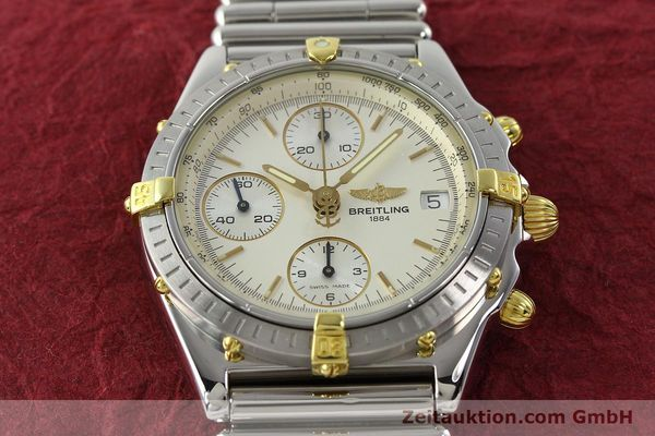 Used luxury watch Breitling Chronomat chronograph steel / gold automatic Kal. B13 ETA 7750 Ref. B13050  | 141714 14
