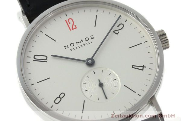 Used luxury watch Nomos Tangente steel manual winding Kal. Alpha 92915  | 141718 02