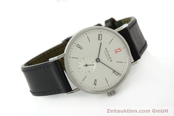 Used luxury watch Nomos Tangente steel manual winding Kal. Alpha 92915  | 141718 03