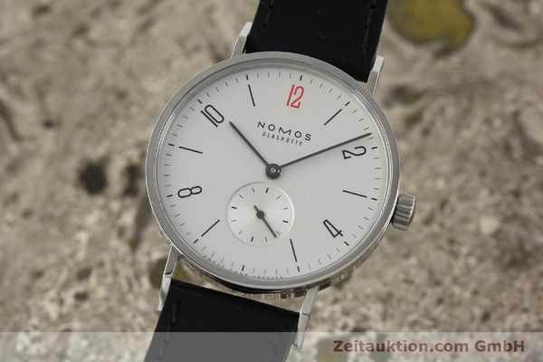 Used luxury watch Nomos Tangente steel manual winding Kal. Alpha 92915  | 141718 04