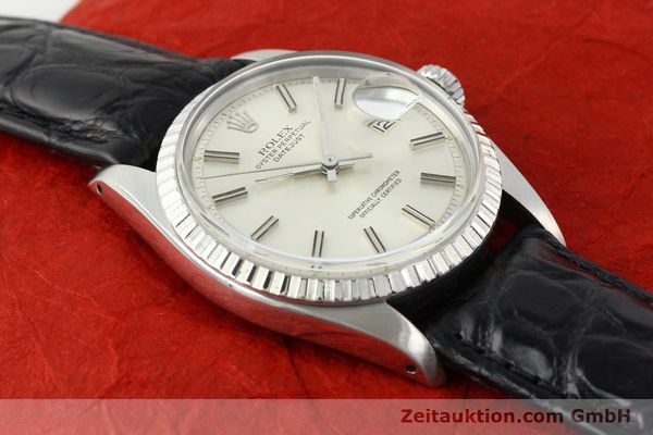 Used luxury watch Rolex Datejust steel automatic Kal. 1570 Ref. 1603  | 141725 13