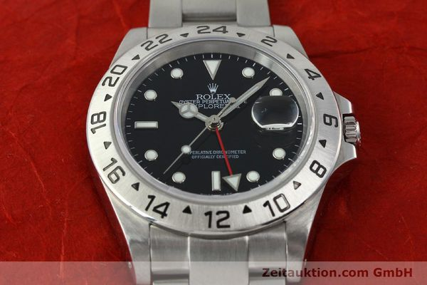 Used luxury watch Rolex Explorer II steel automatic Kal. 3185 Ref. 16570  | 141726 16