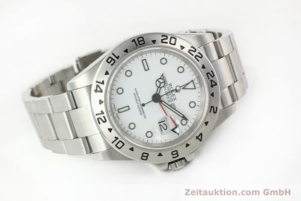 Used luxury watch Rolex Explorer II steel automatic Kal. 3185 Ref. 16570T  | 141728 03