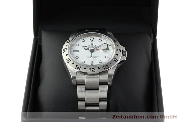 Used luxury watch Rolex Explorer II steel automatic Kal. 3185 Ref. 16570T  | 141728 07