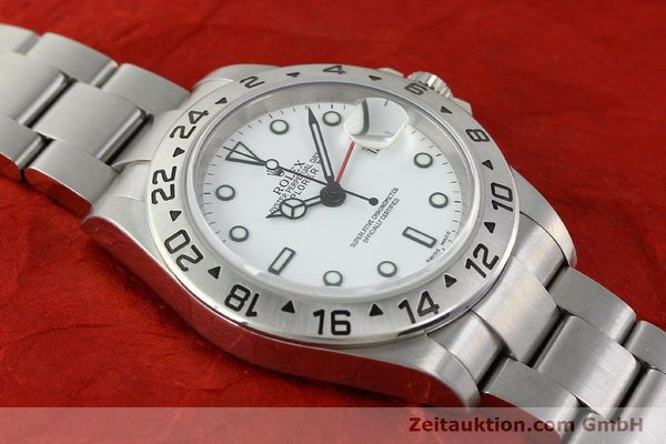 Used luxury watch Rolex Explorer II steel automatic Kal. 3185 Ref. 16570T  | 141728 15