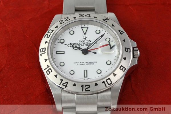 Used luxury watch Rolex Explorer II steel automatic Kal. 3185 Ref. 16570T  | 141728 16