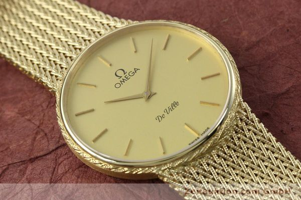 Used luxury watch Omega De Ville 14 ct yellow gold quartz Kal. 1365 Ref. 3917028  | 141731 14