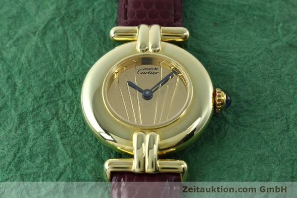 Used luxury watch Cartier Vermeil silver-gilt quartz Kal. 90  | 141736 13