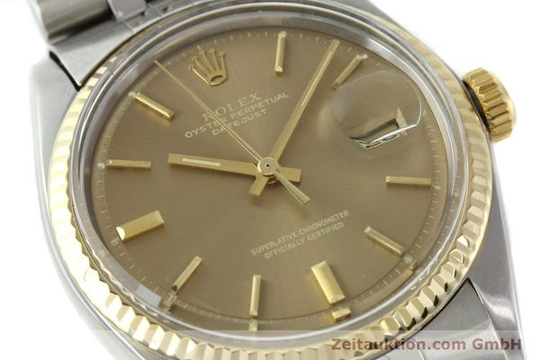 Used luxury watch Rolex Datejust steel / gold automatic Kal. 1570 Ref. 1601  | 141741 02