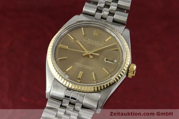 Used luxury watch Rolex Datejust steel / gold automatic Kal. 1570 Ref. 1601  | 141741 04