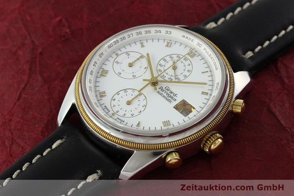 Used luxury watch Girard Perregaux * chronograph steel / gold automatic Kal. 8000-164 Ref. 4910  | 141745 01