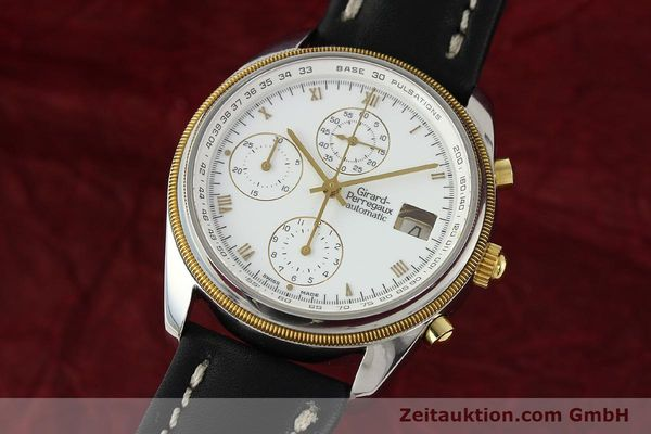 Used luxury watch Girard Perregaux * chronograph steel / gold automatic Kal. 8000-164 Ref. 4910  | 141745 04