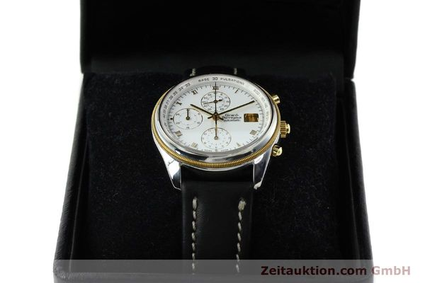 Used luxury watch Girard Perregaux * chronograph steel / gold automatic Kal. 8000-164 Ref. 4910  | 141745 07