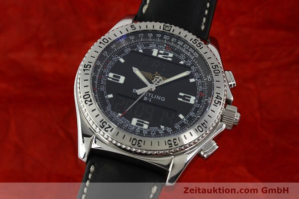 Used luxury watch Breitling B1 chronograph steel quartz Kal. B68 ETA E20.331 Ref. A68362 VINTAGE  | 141746 04