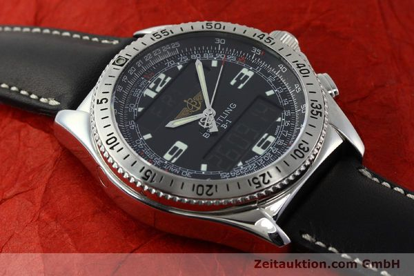 Used luxury watch Breitling B1 chronograph steel quartz Kal. B68 ETA E20.331 Ref. A68362 VINTAGE  | 141746 13