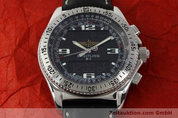 Used luxury watch Breitling B1 chronograph steel quartz Kal. B68 ETA E20.331 Ref. A68362 VINTAGE  | 141746 14