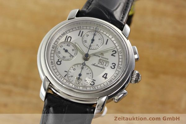 Used luxury watch Maurice Lacroix Croneo chronograph steel automatic Kal. ML 67 ETA 7750 Ref. 67668  | 141747 04