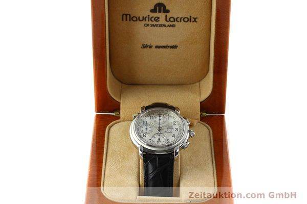Used luxury watch Maurice Lacroix Croneo chronograph steel automatic Kal. ML 67 ETA 7750 Ref. 67668  | 141747 07