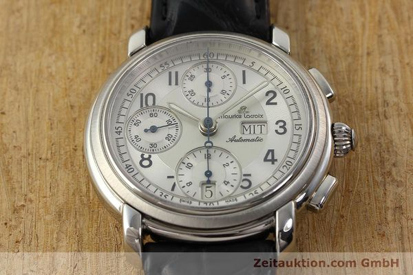 Used luxury watch Maurice Lacroix Croneo chronograph steel automatic Kal. ML 67 ETA 7750 Ref. 67668  | 141747 14