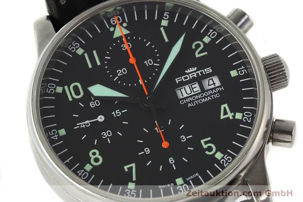 Used luxury watch Fortis Flieger chronograph steel automatic Kal. ETA 7750 Ref. 597.10.141  | 141750 02