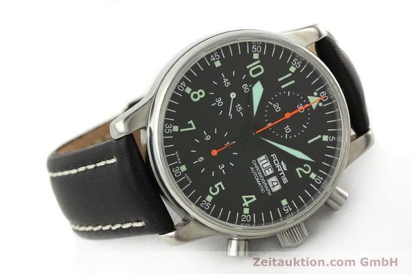 Used luxury watch Fortis Flieger chronograph steel automatic Kal. ETA 7750 Ref. 597.10.141  | 141750 03