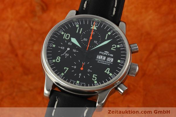 Used luxury watch Fortis Flieger chronograph steel automatic Kal. ETA 7750 Ref. 597.10.141  | 141750 04