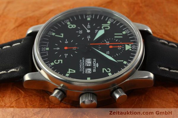 Used luxury watch Fortis Flieger chronograph steel automatic Kal. ETA 7750 Ref. 597.10.141  | 141750 05