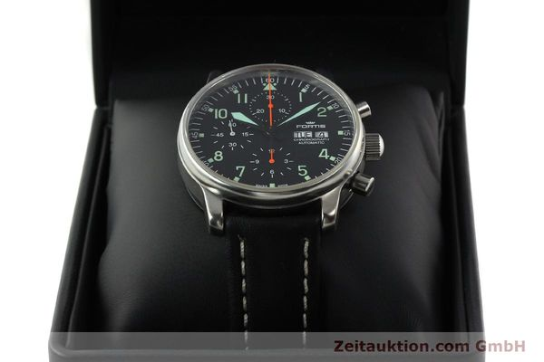 Used luxury watch Fortis Flieger chronograph steel automatic Kal. ETA 7750 Ref. 597.10.141  | 141750 07