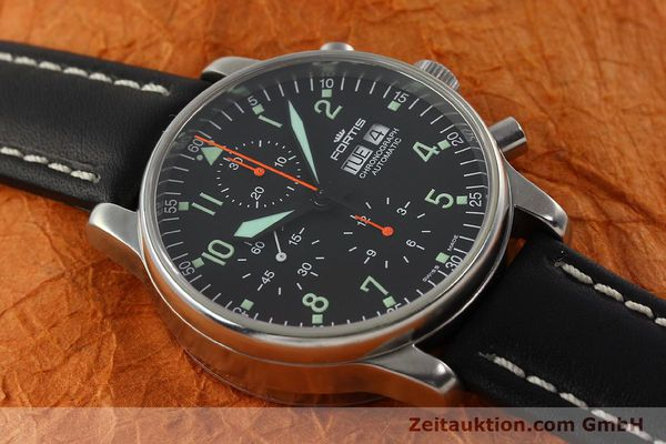 Used luxury watch Fortis Flieger chronograph steel automatic Kal. ETA 7750 Ref. 597.10.141  | 141750 14