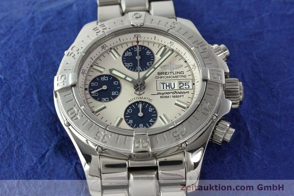 Used luxury watch Breitling Superocean steel automatic Kal. B13 ETA 7750 Ref. A13340  | 141762 15