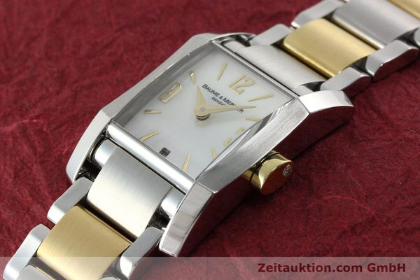Used luxury watch Baume & Mercier Hampton gilt steel quartz Kal. BM7111 ETA F03111 Ref. 65489  | 141763 01