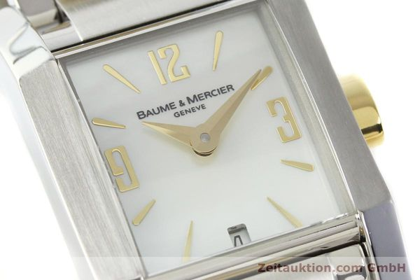 Used luxury watch Baume & Mercier Hampton gilt steel quartz Kal. BM7111 ETA F03111 Ref. 65489  | 141763 02