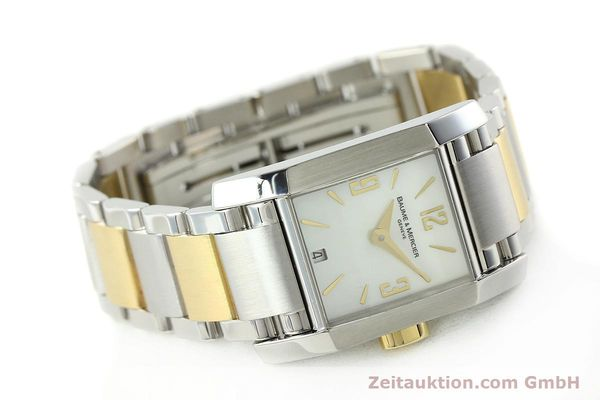 Used luxury watch Baume & Mercier Hampton gilt steel quartz Kal. BM7111 ETA F03111 Ref. 65489  | 141763 03