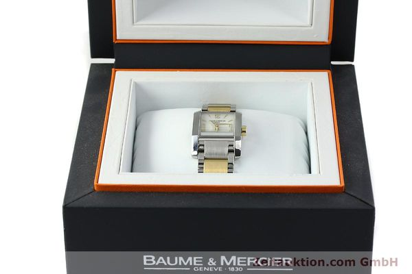 Used luxury watch Baume & Mercier Hampton gilt steel quartz Kal. BM7111 ETA F03111 Ref. 65489  | 141763 07