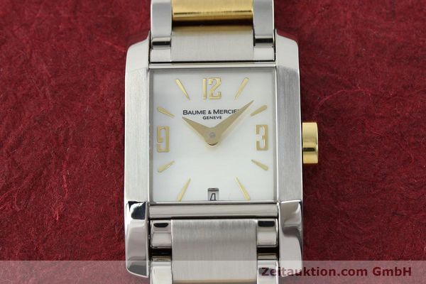 Used luxury watch Baume & Mercier Hampton gilt steel quartz Kal. BM7111 ETA F03111 Ref. 65489  | 141763 15