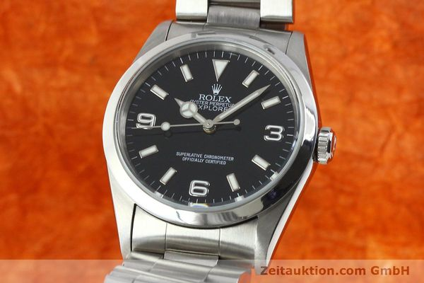 Used luxury watch Rolex Explorer steel automatic Kal. 3000 Ref. 14270  | 141779 04
