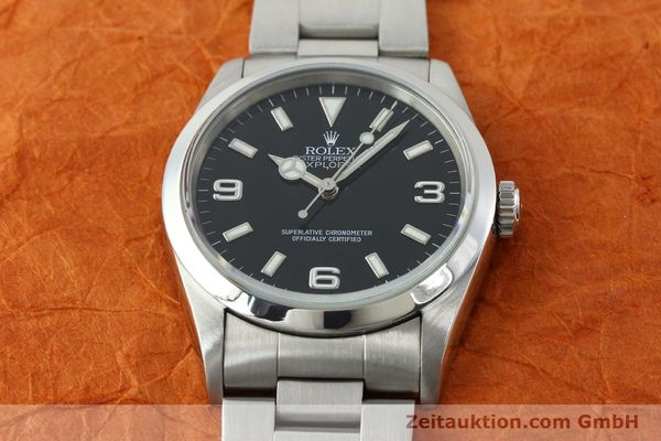 Used luxury watch Rolex Explorer steel automatic Kal. 3000 Ref. 14270  | 141779 15