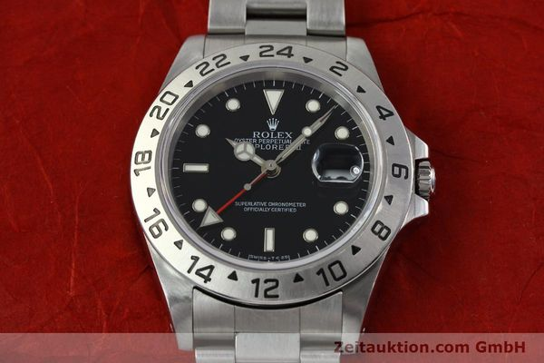 Used luxury watch Rolex Explorer II steel automatic Kal. 3185 Ref. 16570  | 141780 16