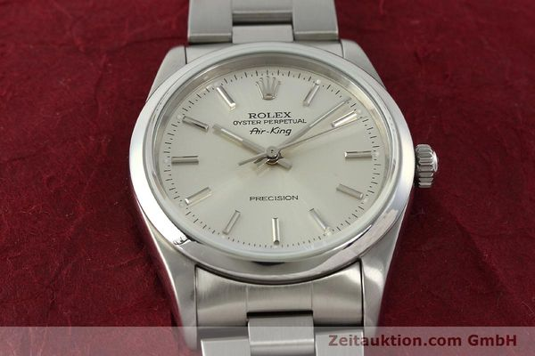 Used luxury watch Rolex Air King steel automatic Kal. 3000 Ref. 14000  | 141781 16