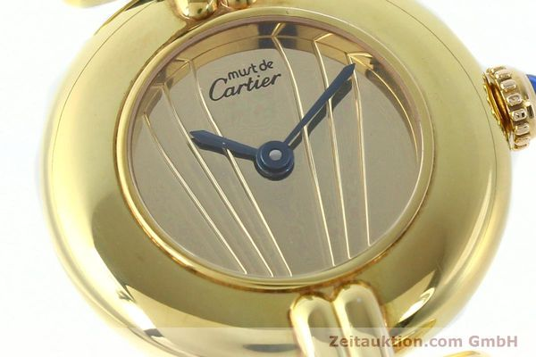 Used luxury watch Cartier Vermeil silver-gilt quartz Kal. 690  | 141797 02